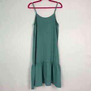 Twik Oversized Teal Slip Dress M